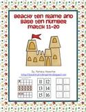 Beachy Ten Frame and Base Ten Number Match Activity Ocean
