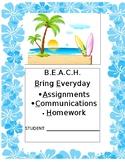 Beachy Theme Cover Design for Folders