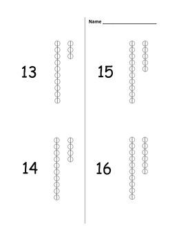 Bead Bar Coloring - Numbers 1 - 20