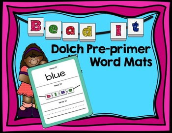 Bead It- Sight Word Dolch Pre-Primer Work Mats