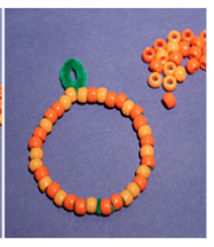 Beaded Pumpkin Craft and Writing Assignment
