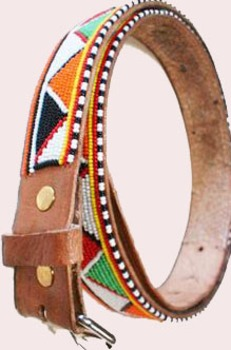 Beaded art belt