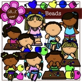 Beads Digital Clipart (color and black&white)