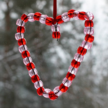 Beads craft for Valentine's Day