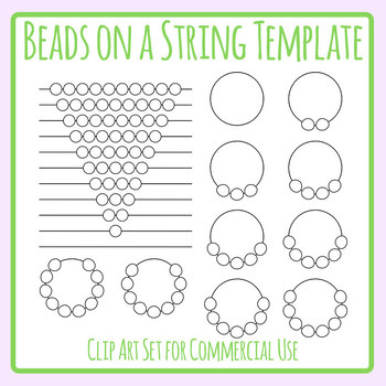Beads for Patterns etc Blank Template Clip Art Set for Commercial Use