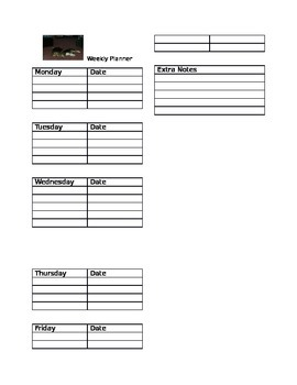 Beagle Weekly Planner