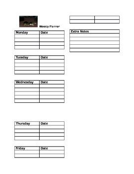 Beagle Weekly Planner