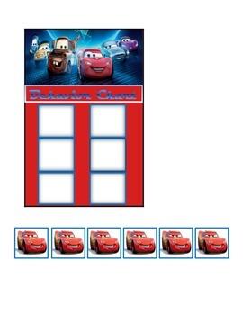 Behavior Chart (6 Boxes) Cars