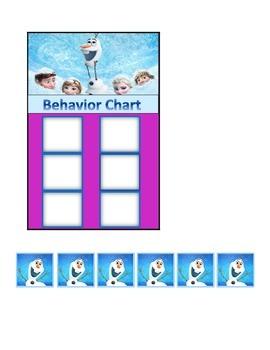 Behavior Chart (6 Boxes) Frozen