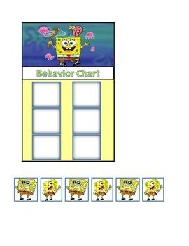 Behavior Chart (6 Boxes) Spongebob