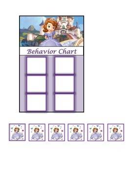 Behavior Chart (6 Boxes) Sophia the First