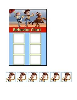 Behavior Chart (6 Boxes) Toy Story