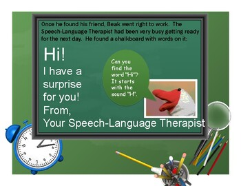 The Speech Room Surprise Story and  Printables