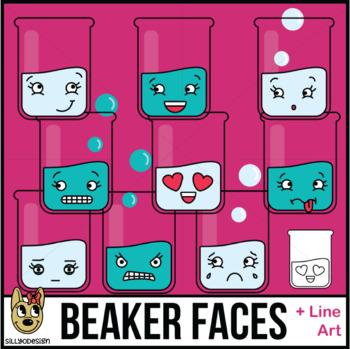 Beaker Faces Clip Art