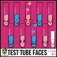 Beaker, Flask, Test Tube Faces Clip Art Bundle