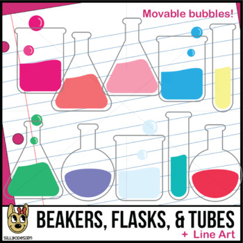 Beakers, Flasks, and Test Tubes Clip Art