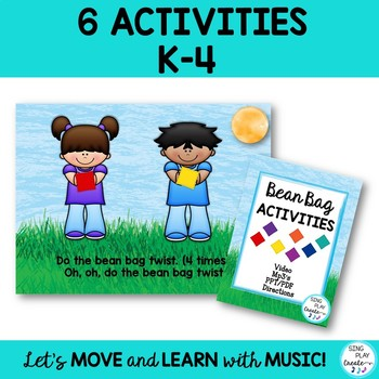 Bean Bag Activity Songs, Brain Breaks, Team Building, Mp3 Tracks and Video