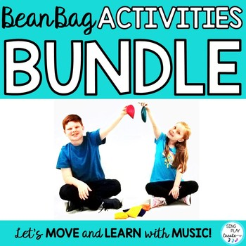 Bean Bag Game and Activities Bundle: Music, Preschool, PE, Movement Classes