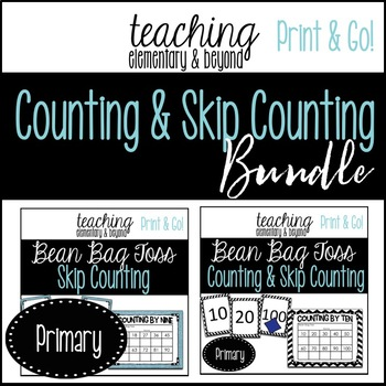 Counting and Skip Counting Bundle {Bean Bag Toss}
