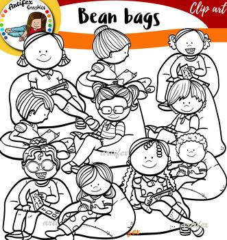 Bean Bags clip art
