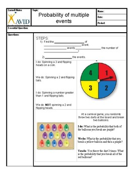 Bean Boozled Probability lab and Cornell Notes