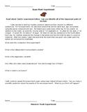 Bean Plant/Monster Truck Experiment (Using Scientific Meth