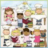 Bean Pole Kids: In The Kitchen Clip Art - CU Colored Clip Art
