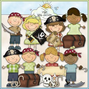 Bean Pole Kids: Play Pirates Clip Art - CU Colored Clip Art