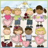 Bean Pole Kids: Valentines Clip Art - CU Colored Clip Art