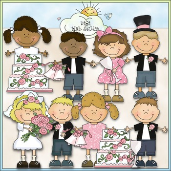 Bean Pole Kids: Wedding Clip Art - CU Colored Clip Art