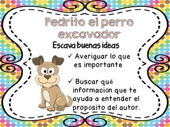 Beanie Babies Reading Comprehension Posters Spanish
