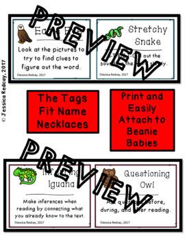 Beanie Babies Reading Strategies Bundle