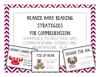 Beanie Baby Comprehension Reading Strategies - Comprehensi