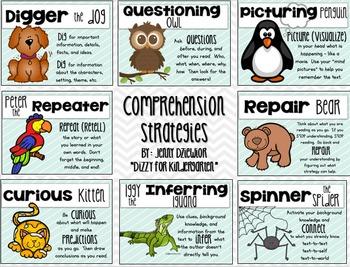 Beanie Baby Comprehension Strategies