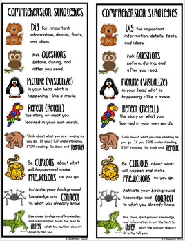 Beanie Baby Comprehension Strategies