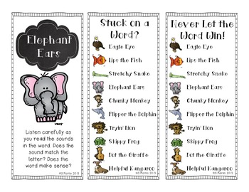 Animal K-2 Decoding Reading Strategies