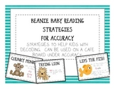 Beanie Baby Decoding Reading Strategies - Accuracy Cafe Posters