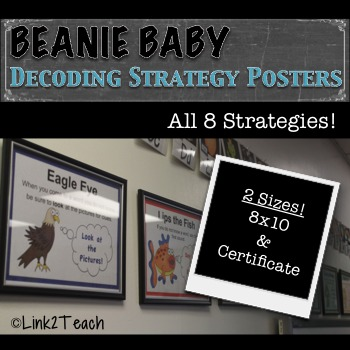 Beanie Baby Decoding Strategies Posters