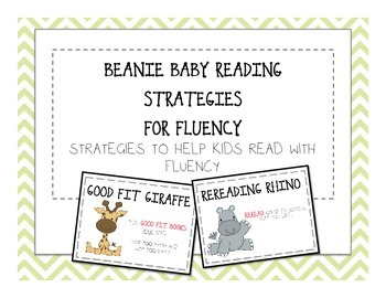 Beanie Baby Fluency Reading Strategies - Fluency Cafe Posters