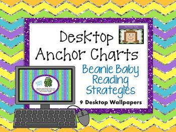 Beanie Baby Reading Strategies Desktop Anchor Charts