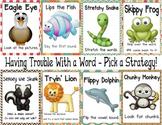 Reading Strategies - Beanie Baby Anchor Chart