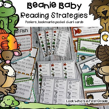 Beanie Baby Reading Strategies Packet