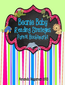 Beanie Baby Reading Strategies Parent Bookmarks