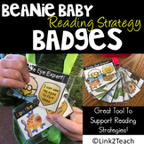 Beanie Baby Reading Strategy Badges