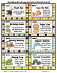 Animal Reading Strategy Incentive Punch Cards-Brag Tags- Wristbands