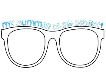 My Summer is so Bright Sunglasses