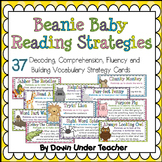 Beanie Baby Reading Strategy Cards - Decoding, Comprehensi