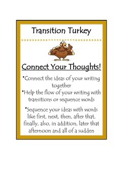 Beanie Baby Writing Posters TransitionTurkey