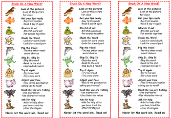 Beanie Buddy Decoding & Comprehension Strategy Bookmarks-Free