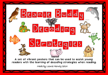 Beanie Buddy Decoding Strategy Posters -Free